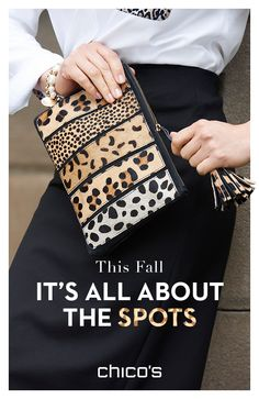 leopard shoes outfit The hunt for your next go-to clutch is over! Take a walk on the wild side with this leopard-spotted bag with bold tassel detail. Discover more ways to rock this fall fashion trend at Fall Fashion Trends, Autumn Fashion, Animal Print Fashion, Creation Couture, Clutch Bag, Stitch Fix, Purses And Bags, Sewing Projects, Fashion Accessories