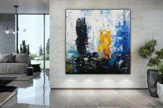 original abstract art on canvas contemporary,living room painting abstract,large abstract canvas wall art,office wall art canvas Large Artwork, Large Canvas Art, Abstract Canvas Art, Extra Large Wall Art, Large Painting, Canvas Wall Art, Original Artwork, Original Paintings, Abstract Paintings