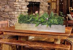 Upcycled Barnwood for a great looking heavy-duty planter. #woodcraft #upcycling