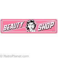 Beauty Shop Tin Sign #retro #pink  http://www.retroplanet.com/PROD/29777