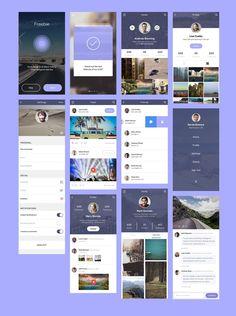 Social App UI PSD