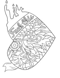 50 free printable swear coloring pages at swearstressaway.com