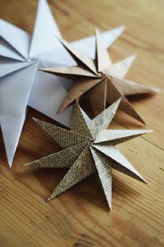 origami star christmas