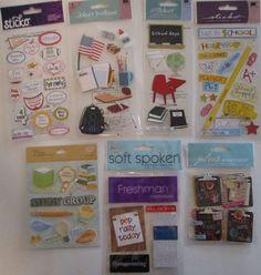 Jolee's Boutique & Sticko Scrapbooking Stickers Lot SCHOOL Freshman Study…