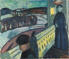 Edvard Munch, On the Veranda Stairs 1922–24 / Oil on canvas / 82 x 95,5 cm Munch Museum