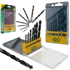 Trademark Tools 75-5508 Trademark Tools Wood Drill Bit Set W/ Storage Case - 8 Pc