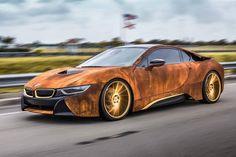 BMW i8 Rust Wrap Custom Car #muskineffect #mushroomleather