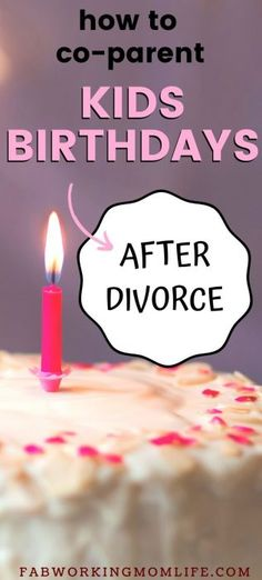How do you handle children's birthdays after divorce? This article shines a light on co-parenting in these situations. Parenting Advice, Kids And Parenting, After Divorce, Marvel Films, Working Moms, Birthdays, Handle, Children, Life