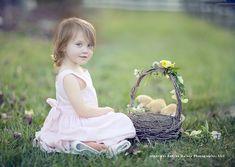 Easter Photography Props   Easter Basket Prop...live chicks!