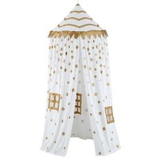 Gold Confetti Canopy Play Tent #canopy #playroom