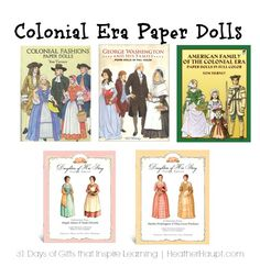 Paper dolls are a beautiful and fanciful way to reinforce learning about historical era's! Preschool Books, Founding Fathers, Elementary Education, Read Aloud, Revolutionaries, Social Studies, Paper Dolls, Kids Learning, War