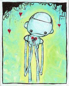 broken heart robot