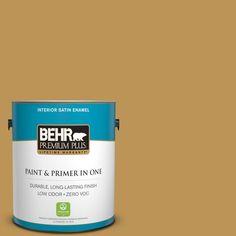 BEHR Premium Plus 1-gal. #T12-5 Lone Star Zero VOC Satin Enamel Interior Paint
