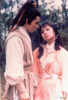 The Legend of the Condor Heroes TV series) 《射雕英雄传》 - Felix Wong, Barbara Yung, Michael Miu, Sharon Yeung Asian Celebrities, Asian Actors, Drama Series, Tv Series, Hong Kong Celebrity, Louis Cha, Hong Kong Movie, Good Old Times, Jin Yong