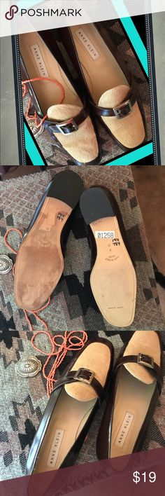 Anne Klein Leather Italian Flats  🇮🇹 Rich brown patent leather. Made in Italy 🇮🇹 buckled slip on flats. Left shoe has discoloration on sole (see last photo). Otherwise in great condition with no signs of wear🌸 View 👀all photos, ask ?s 🗣 No 💨 Smoke home with various pets that are 🚫 forbidden to enter my closet 🐔🐥🐥🐥🐶🐶🐰🐰🐰🐰🐔🐔🐔🐥 Anne Klein Shoes Flats & Loafers
