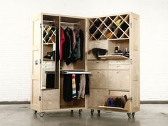 The 'Furniture in a Crate' is a clever way to save space in your loft