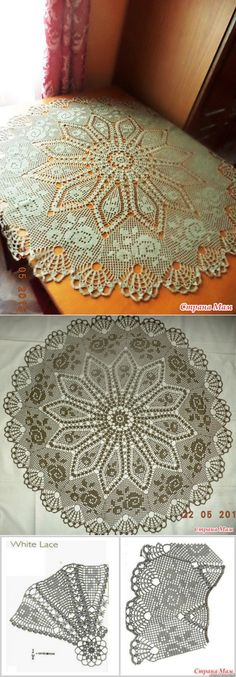 crocheted tablecloth...♥ Deniz ♥
