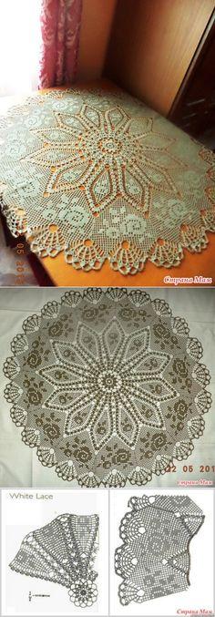 crocheted tablecloth...♥ Deniz ♥