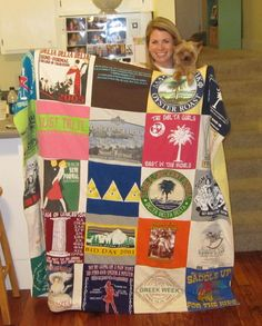 Tshirt quilt! A great way for alumnae to use old shirts AND share DDD memories!