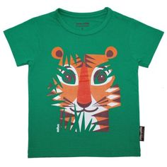This tiger t-shirt in organic cotton, printed on both sides, are perfect for animals' lovers! This kids' tee-shirt is designed by Mibo for Coq en Pâte. Sac Week End, Animal Bag, Tiger T Shirt, Coton Biologique, School Gifts, Girl Backpacks, Safari Animals, Kids Prints, Backpacker