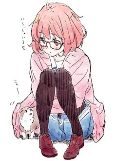 Cute anime girl,Kyoukai no Kanata (Beyond the Boundary),Mirai Kuriyama Kyoani Anime, Anime Kawaii, Anime Chibi, Anime Love, Manga Girl, Anime Girls, Mirai Kuriyama, Beyond The Boundary, Tamako Love Story