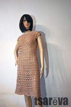Vanessa Montoro, Bohemian Summer, Color Beige, Vintage Style Dresses, Cotton Crochet, Chloe, Crochet Clothes, Black Cotton, Tweed