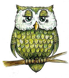 ink owl print by dmcram