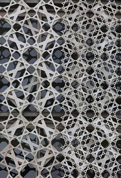 materials-texture/tactile In Progress: Doha Office Tower, Qatar, Ateliers Jean Nouvel / Nelson Garrido. Architecture Design, Islamic Architecture, Facade Design, Amazing Architecture, Landscape Architecture, Installation Architecture, Building Architecture, Chinese Architecture, Architecture Office