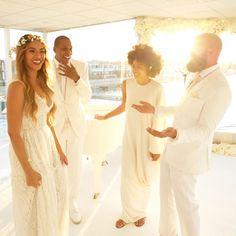 Beyonce, Jay Z, Solange & Alan Ferguson at Tina Knowles & Richard Lawson wedding, April 12th 2015