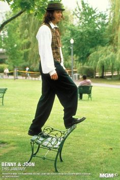 Johnny Depp in Benny and Joon, a great scene in this movie . . .