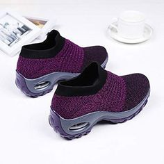 Women's Walking Shoes Sock Sneakers - Mesh Slip On Air Cushion Lady Girls Modern Jazz Dance Easy Shoes Platform Loafers Casual Sneakers, Air Max Sneakers, Winter Sneakers, Winter Shoes, Sock Shoes, Baby Shoes, Women's Shoes, Shoes Sneakers, Black Sneakers