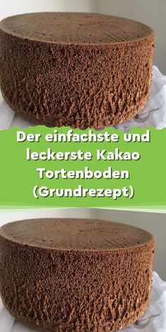 The simplest cocoa cake base (basic recipe) April 09 Der einfachste Kakao Tortenboden (Grundrezept) April 09 2019 Ingredients: 5 eggs 5 tablespoons sugar 5 tablespoons flour 5 tablespoons warm … - Chocolate Recipes, Chocolate Cake, Chocolate Sponge, Easy Cake Recipes, Dessert Recipes, Cocoa Cake, Diy Y Manualidades, Unsweetened Cocoa, Food Cakes