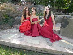 Sabrina, Kallie and Nancy by the pond