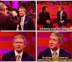 Martin Freeman with Ben Stiller on Graham Norton.