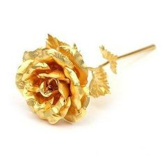 Roses are always thrilling for a wife or girlfriend to receive. These two timeless symbols of richness and beauty have been perfectly combined in the golden rose. Something women have a soft spot in t