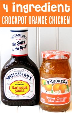 {Just 4 Ingredients} - Crockpot Orange Chicken Recipe – Easy Crock Pot Dinner! {Just 4 Ingredients} Skip the Panda Expre - Crockpot Dishes, Crock Pot Cooking, Crock Pot Freezer, Dinner Crockpot, Cooking Lamb, Crock Pots, Slow Cooker Recipes, Crockpot Recipes, Healthy Recipes