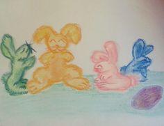 """""""Páscoa chegando! 4 #drawing #draw #desenho #art #colors #cores #pastelseco #pastelcolors #pastel…"""""""