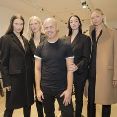 Backstage after the show with Creative Director @italozucchelli and models @jessicamillerofficial @iselinstei @iosonomariacarlaboscono  @gem.gems. #mycalvins #mfw - Shop now for calvinklein > http://ift.tt/1Ja6lvu