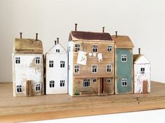 Small Wooden House, Wooden Houses, Driftwood Sculpture, Driftwood Crafts, House Ornaments, Timber House, Magazines For Kids, Miniature Houses, Owl House