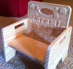 Personalized Unfinished Toddler Chair Step Stool Custom