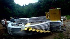 Earthbag Construction Ideas.  Construction eco dome superadobe - timelapse - partie 1 - france