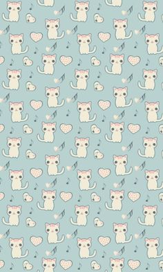 cat patterns on Pinterest  Cat pattern, Cat wallpaper and Cat fabric