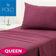 Online shopping club in Australia Sheet Sets, Burgundy, Polo, Queen, Bed, Cotton, Shopping, Polos, Stream Bed