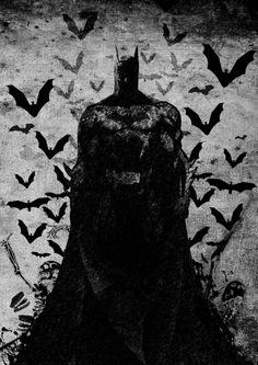 The Knight rises B Art Print