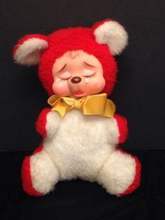 Vintage 1950's Rushton Crying Rubber Face Teddy Bear   eBay
