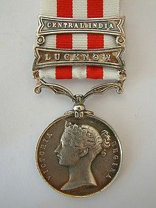 My great great grandfather Colin Archibald awarded similar medal for fighting in Battle of Lucknow 1857. BRITISH ARMY INDIAN MUTINY MEDAL LUCKNOW