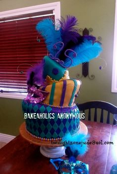 Topsy Turvy Masquerade Quinceanera  Cake , Quince Cake  By twilightzonejude on CakeCentral.com