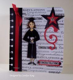 CK Congratulations Graduate- Nurse feelgood stamp set used for graduation card