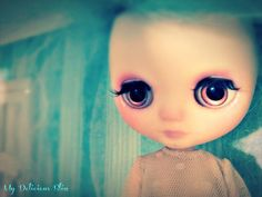 OOAK Middie Blythe Hand Painted Eyechips by MyDeliciousBliss, $25.50