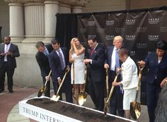 Donald Trump Officially Breaks Ground on Old Post Office Hotel   Local News   Washingtonian